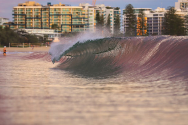 pink lined wave